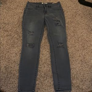 Pacsun Ripped Grey Jeggings